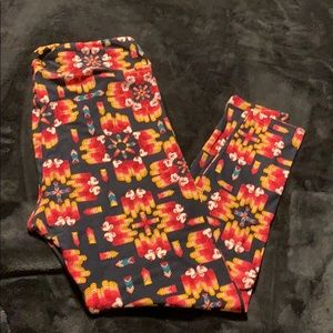 Lularoe Disney Mickey geometric print leggings TC2